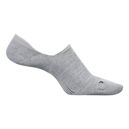 Feetures Men's No Show Hidden Socks Gray