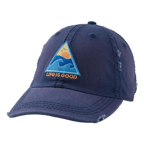 Life is Good Waves Of Life Sunwashed Chill Cap Darkestblu