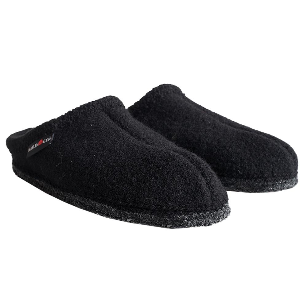 Haflinger Men's AS Slippers BLACK_3H