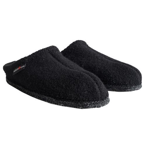 Haflinger Men's AS Slippers Black_3h