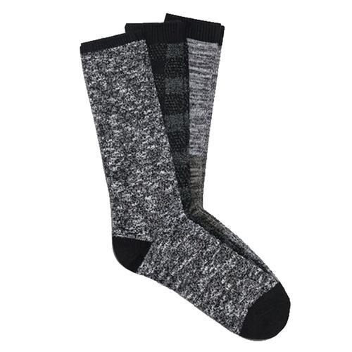 UGG Men's Bennett Crew Sock Gift Set Black_blk
