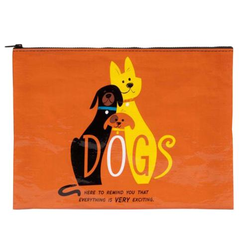 Blue Q Dogs. Here To Remind You That Everything Is Very Exciting Jumbo Pouch