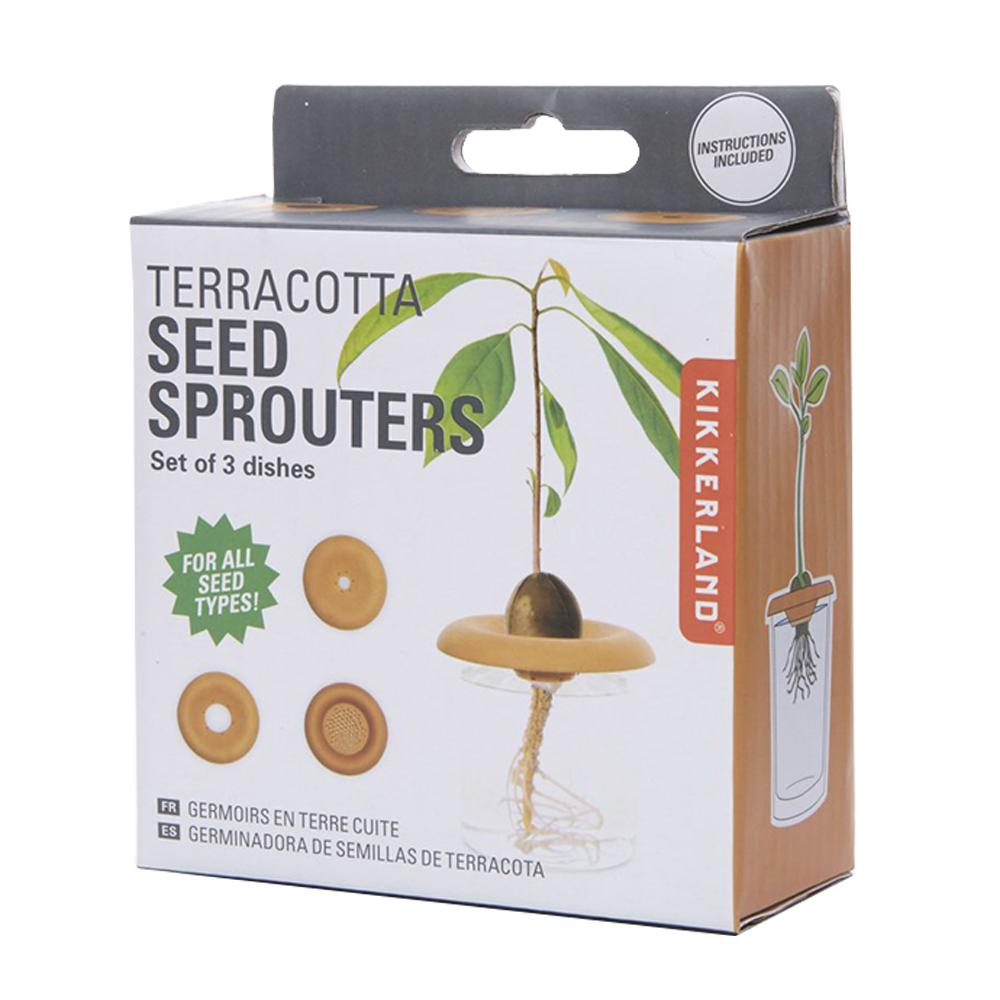 Kikkerland Terracotta Seed Sprouters