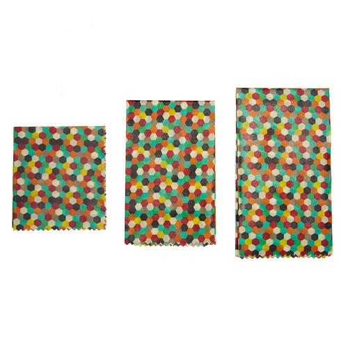 Kikkerland Reusable Beeswax Wraps Multicolor