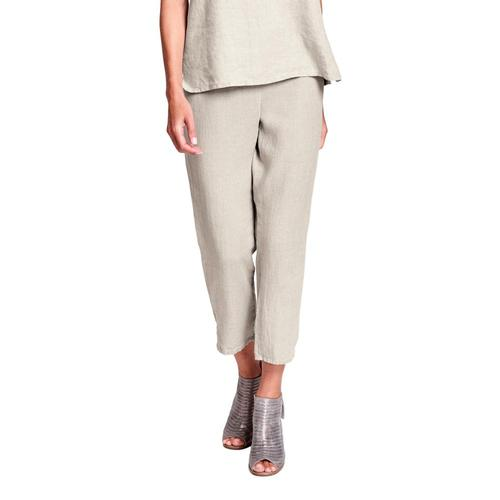 FLAX Women's Pocketed Ankle Pants Natural