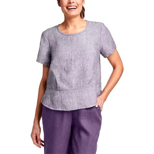 FLAX Women's Peplum Pullover Plumyarndye