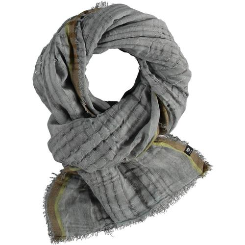V. Fraas Open Plaid Weave Solid Polyester Wrap Scarf Mgrey_960
