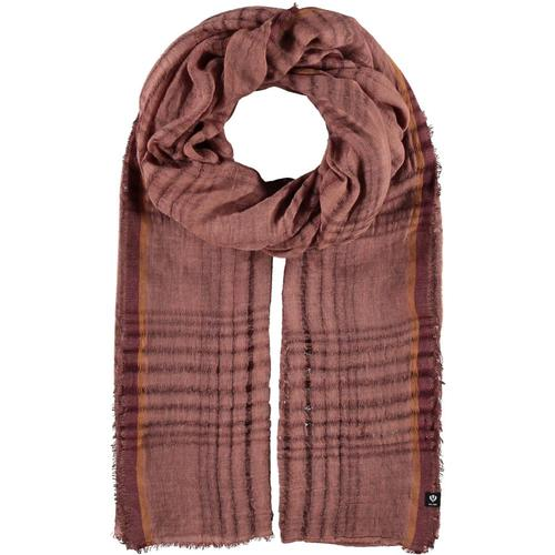 V. Fraas Open Plaid Weave Solid Polyester Wrap Scarf Ochre_140