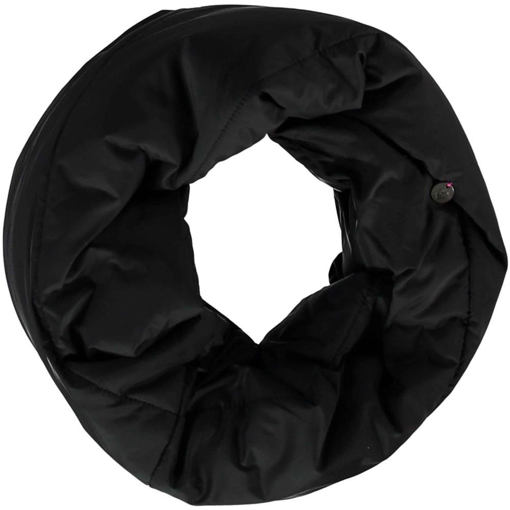 V. Fraas Puffa Snood Solid Color Polyfil Infinity-scarf BLACK_990