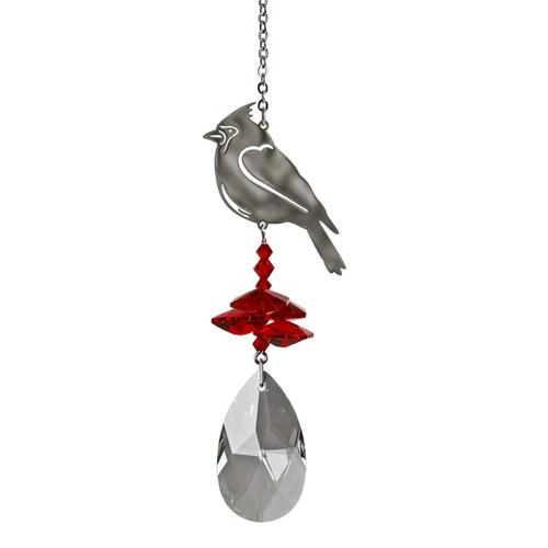 Woodstock Chimes Crystal Fantasy Suncatcher - Cardinal