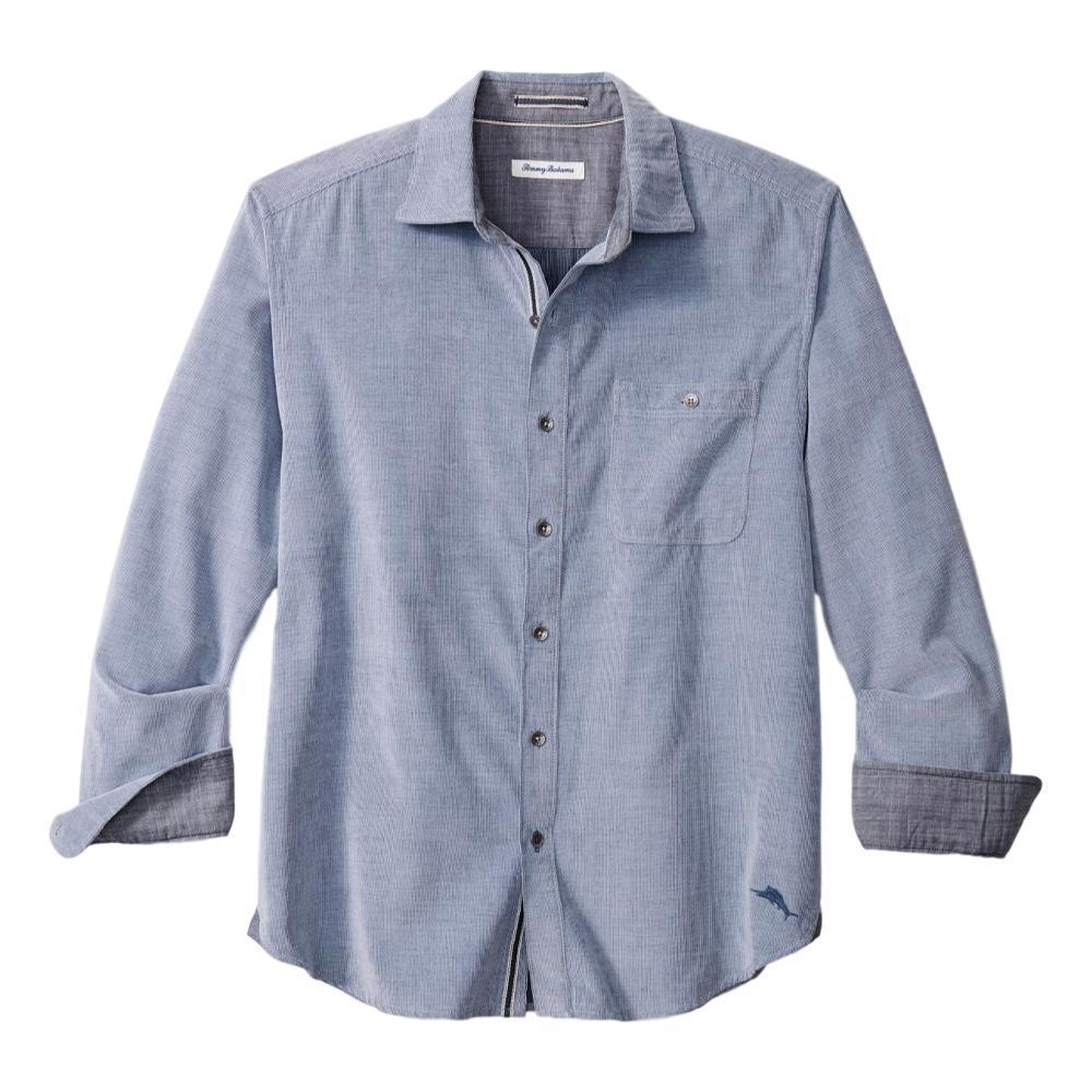 Tommy Bahama Men's Coastline Corduroy Sandwash Shirt BLUE_10710