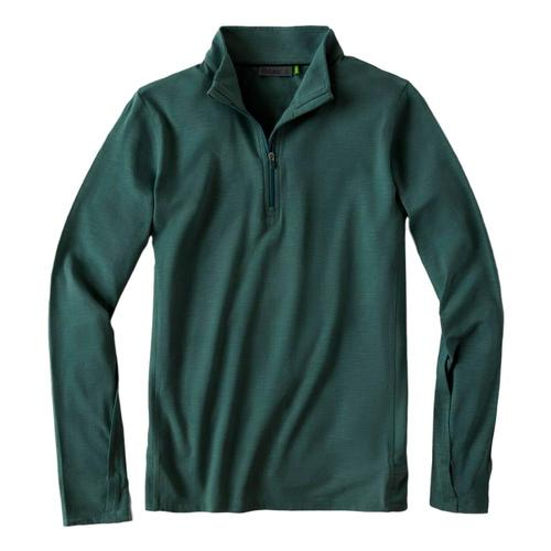 tasc Women's St. Charles Bamboo Quarter Zip Evergreen_303
