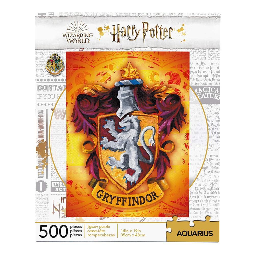 Aquarius Harry Potter Gryffindor Crest 500 Piece Jigsaw Puzzle
