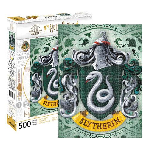 Aquarius Harry Potter Slytherin Crest 500 Piece Jigsaw Puzzle