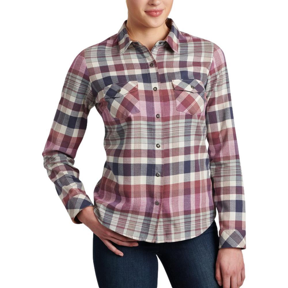 KUHL Women's Tess Flannel Long Sleeve Shirt BLUSH_DPBL