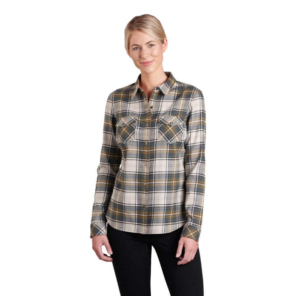 KUHL Women's Tess Flannel Long Sleeve Shirt OLIVINE