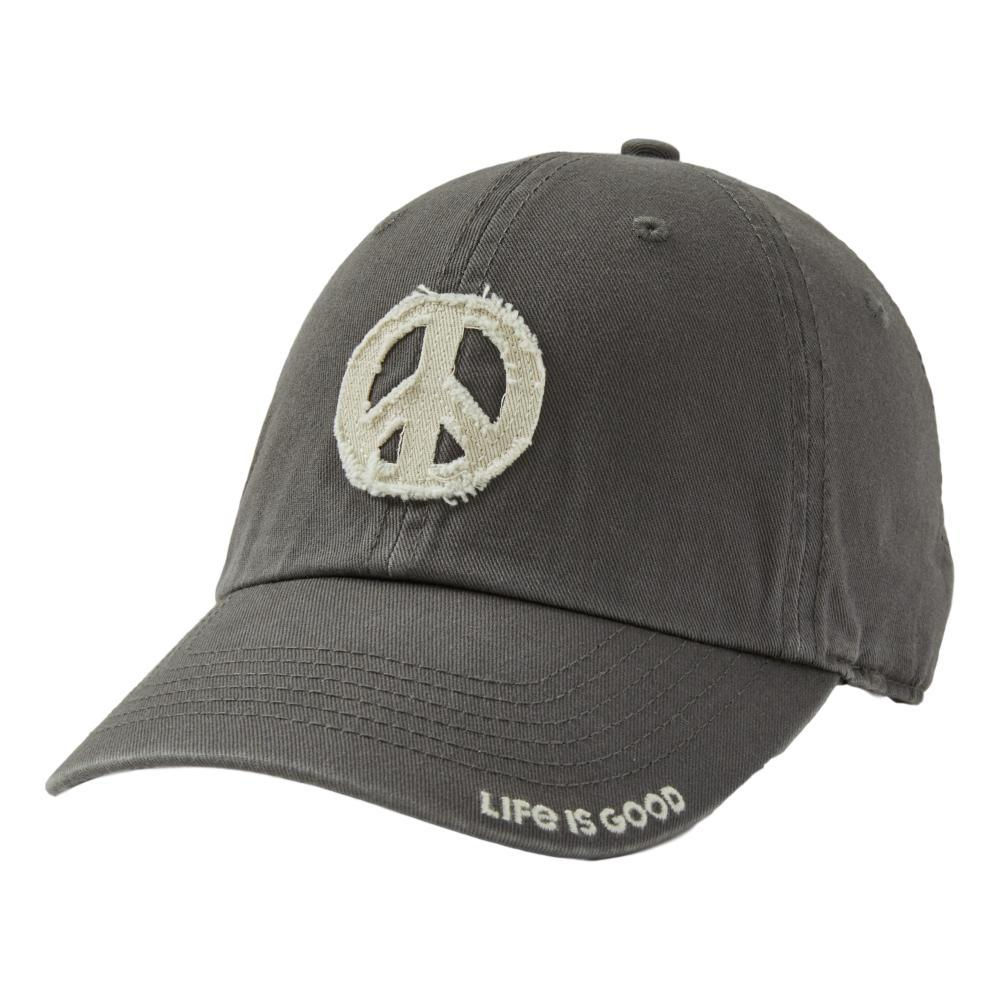 Life is Good Peace Sign Tattered Chill Cap SLATEGRAY