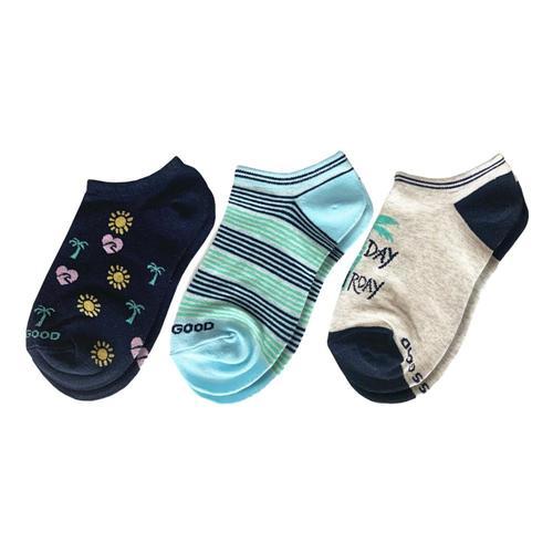 Life is Good Women's Seas the Day Low Cut Socks 3-Pack Saturday