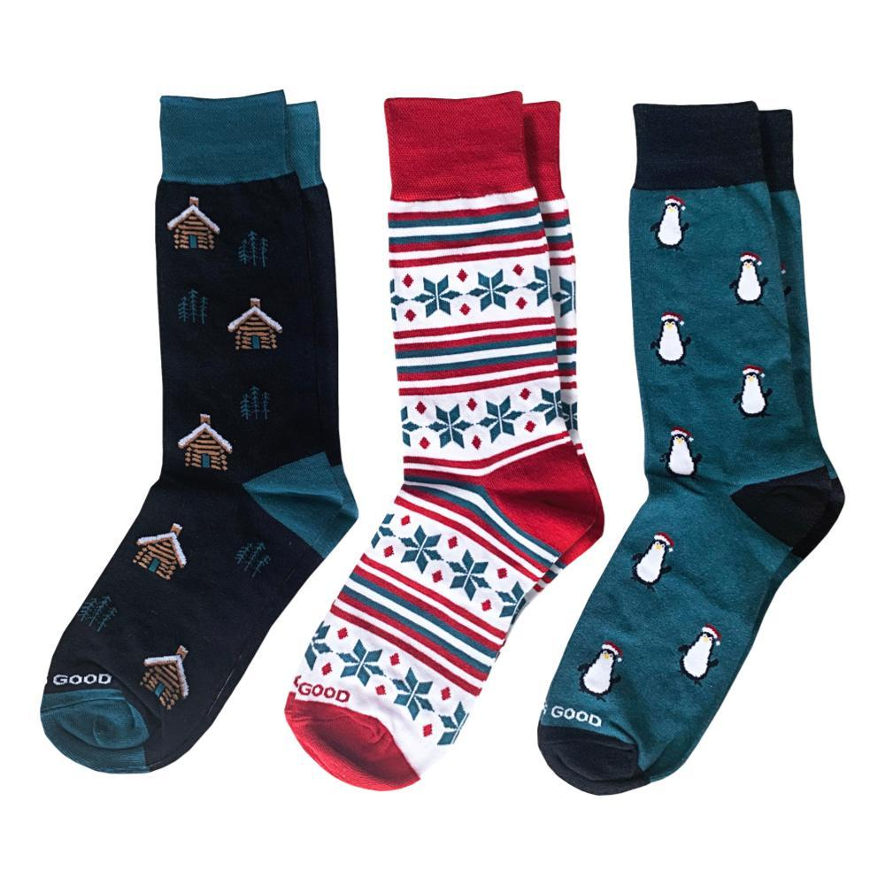 Life is Good Men's Holiday Crew Socks 3-Pack HOLIDAY