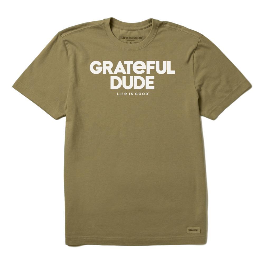 Life is Good Men's Grateful Dude Crusher Tee FATIGGREEN