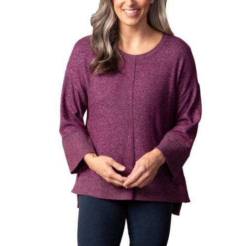 Habitat Women's Super Soft Heathered Fleece Pullover Port