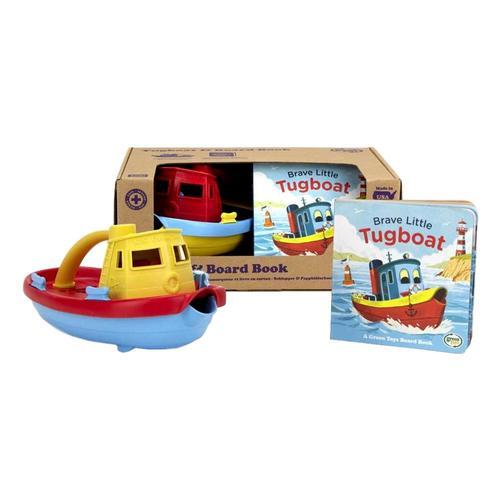 Green Toys Tugboat & Board Book Set