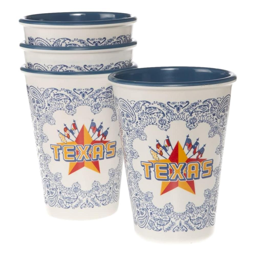 One Hundred 80 Degrees Texas Cups, Set Of 4