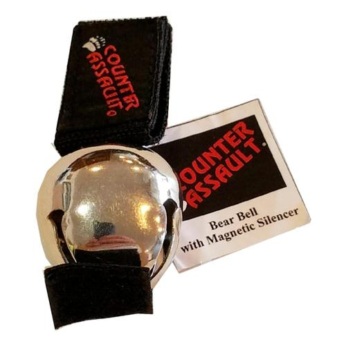 Counter Assault Bear Bell with Magnetic Silencer Chrome