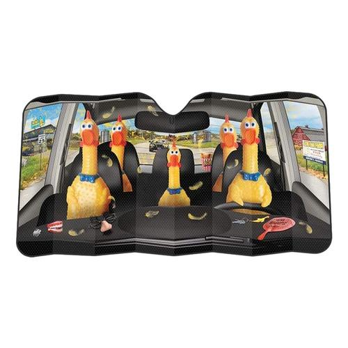 Archie McPhee Car Full of Rubber Chickens Auto Sunshade