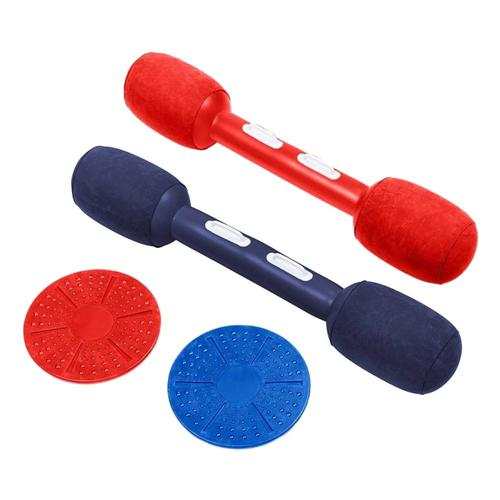 Hearthsong Balance Jousting Set with Inflatable Boppers