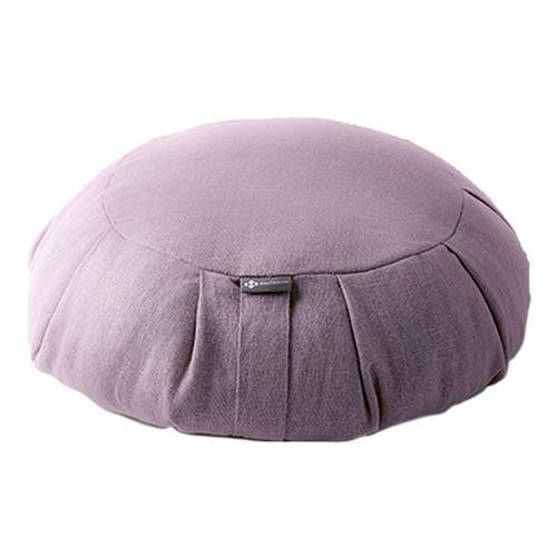 Halfmoon Round Meditation Cushion Fig_linen