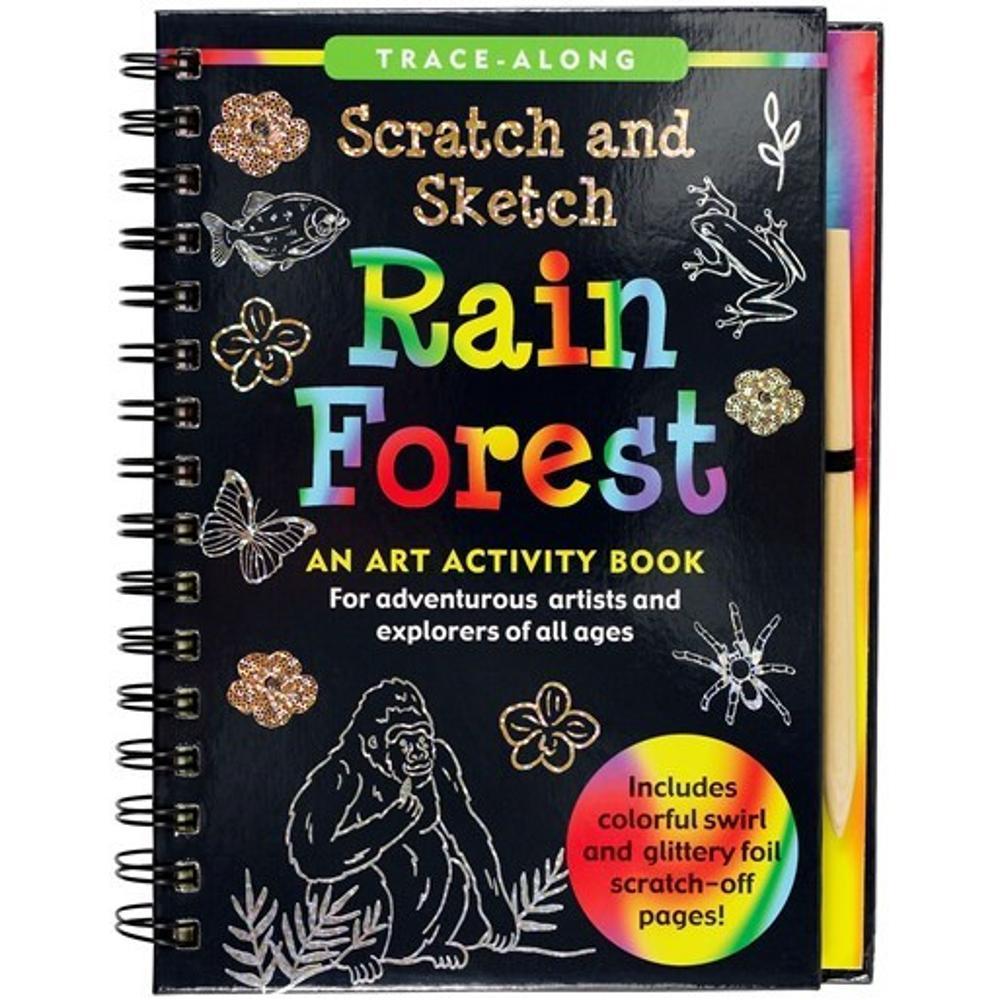 Peter Pauper Press Scratch & Sketch Rain Forest