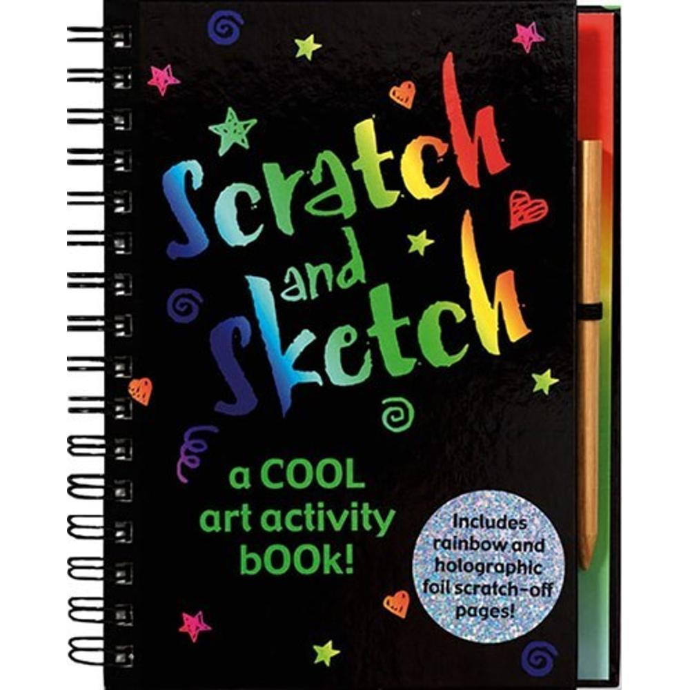 Peter Pauper Press Scratch & Sketch: A cool art activity book! ACTIVITY