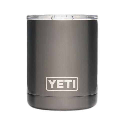 YETI Rambler 10oz Lowball Tumbler with Standard Lid Graphite_pvd
