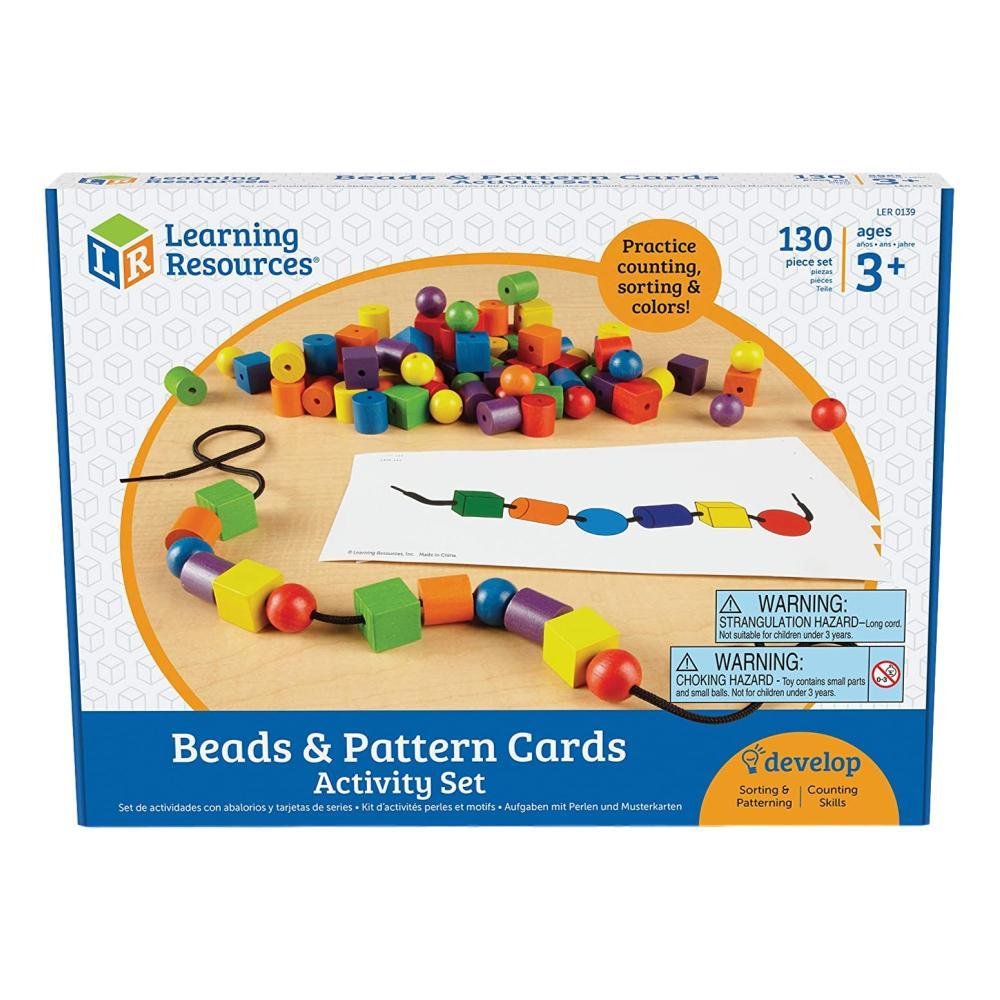 Learning Resources Beads & Pattern Cards Activity Set