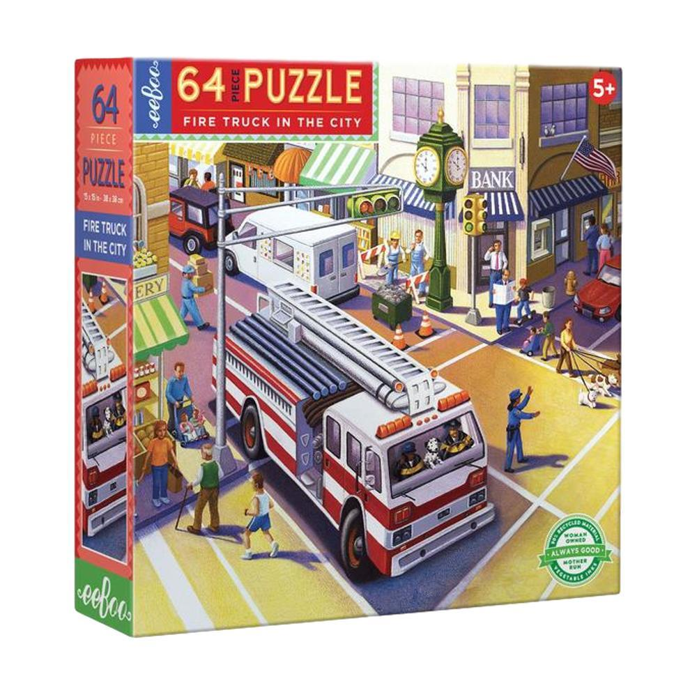 Eeboo Fire Truck In The City 64 Piece Jigsaw Puzzle