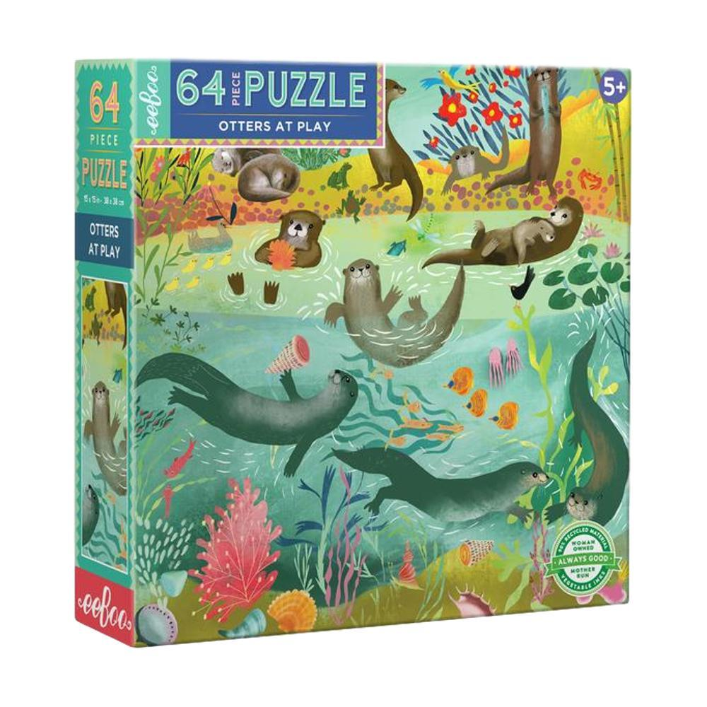 Eeboo Otters At Play 64 Piece Jigsaw Puzzle