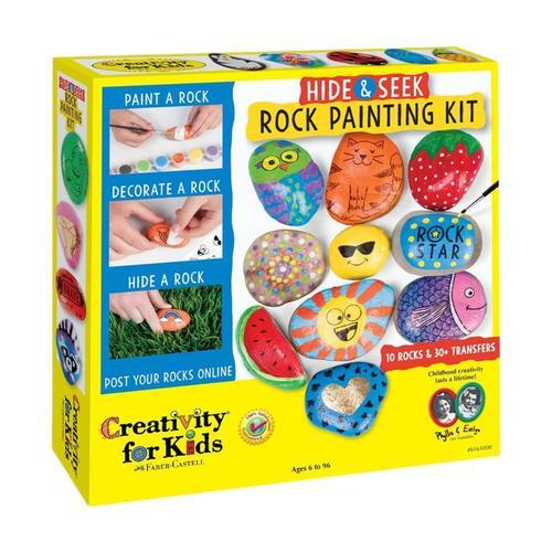 Faber-Castell Creativity for Kids Hide & Seek Rock Painting Kit