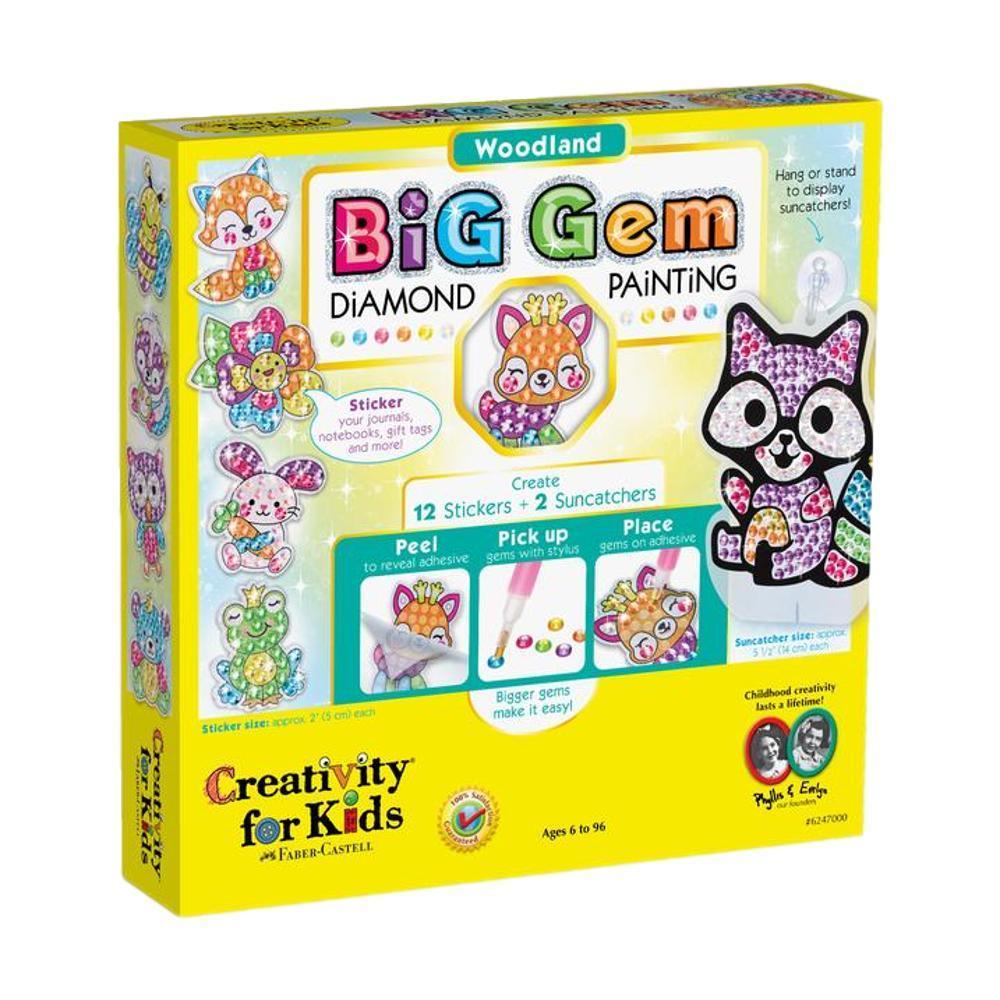 Faber- Castell Creativity For Kids Big Gem Diamond Painting Kit - Woodland