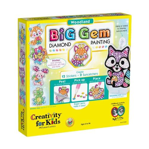 Faber-Castell Creativity for Kids Big Gem Diamond Painting Kit - Woodland