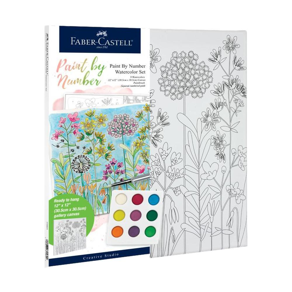 Faber- Castell Watercolor Paint By Number Set - Farmhouse