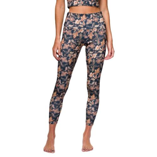 Onzie Women's Sustainable Soul High Rise Midi Leggings Paisley_gpa