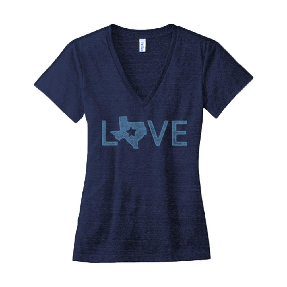Outhouse Designs Women's Texas Shaped Love Tee NAVY