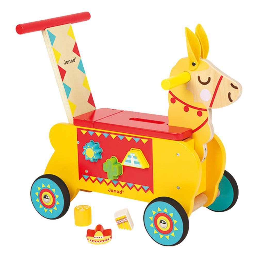 Janod Llama Wooden Ride- On Toy