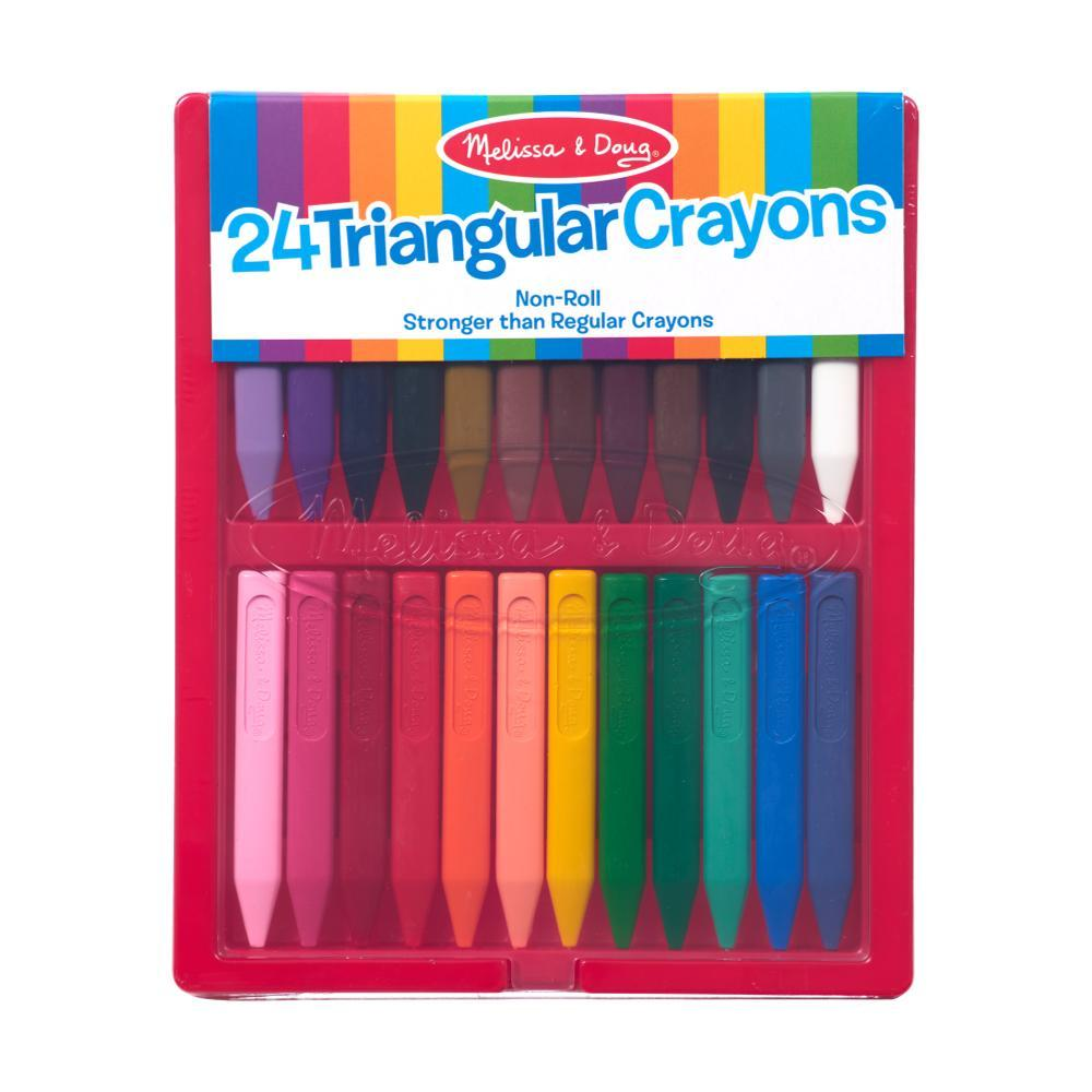 Melissa & Doug Triangular Crayons - 24 Pack