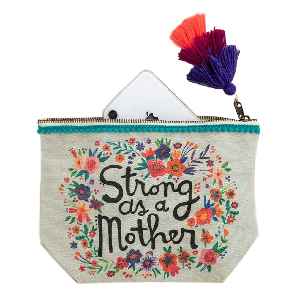 Natural Life Strong As A Mother Canvas Pouch