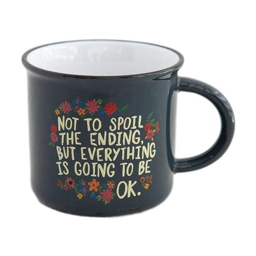 Natural Life Everything Okay Chirp Camp Mug