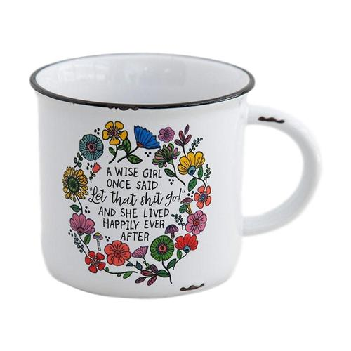 Natural Life Wise Girl Chirp Camp Mug
