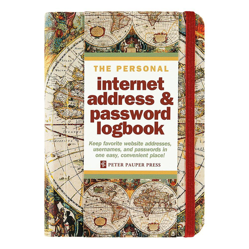 Peter Pauper Press Old World Internet Address & Password Logbook