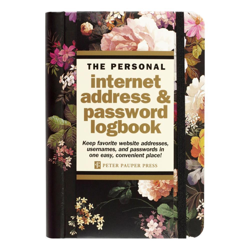 Peter Pauper Press Midnight Floral Internet Address & Password Logbook